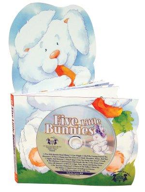 Five Little Bunnies Die-Cut Board Book & CD Set And ...