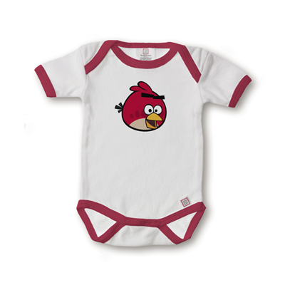 SwaddleDesigns Angry Birds Short Sleeve Body Suit