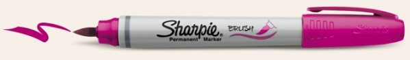 sharpie brush tip marker