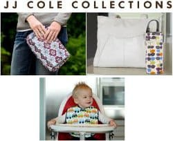 JJ Cole Diaper & Wipes Pod, Bottle Pod and Bib Set