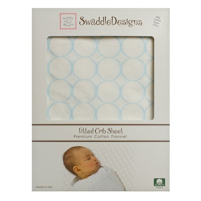 Swaddle Designs Organic Fitted Cotton Flannel Crib Sheet