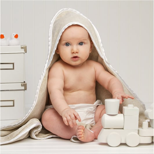 Cuddle Smart Antibacterial Hooded Bath Towels for Infants