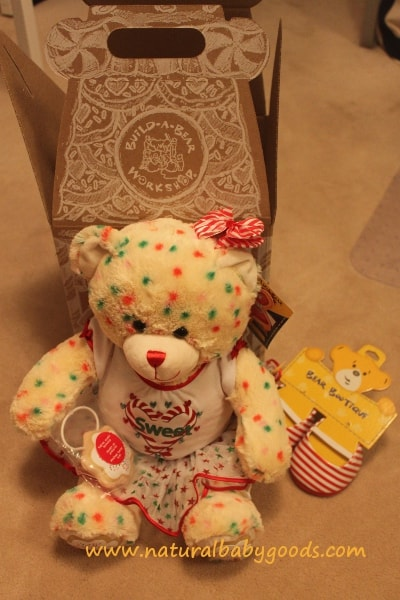 Build-A-Bear Workshop Christmas Cookie Bear Review - Natural Mama
