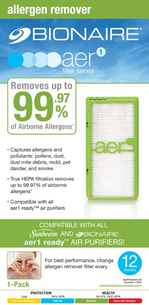 Aer1 filter series - allergen remover (green)
