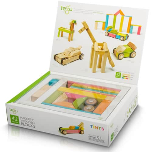 Tegu 42 Piece Magnetic Wooden Building Block Set