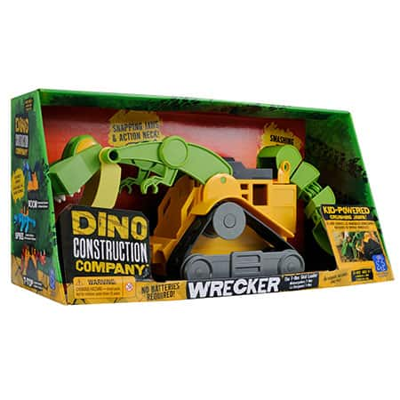 Dino Construction Company™–Wrecker the T-Rex Skid Loader