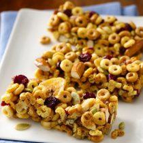 No Bake Multi-Grain Cheerios Snack Bars