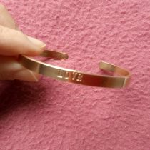 Personalized Gold Cuff Bracelet